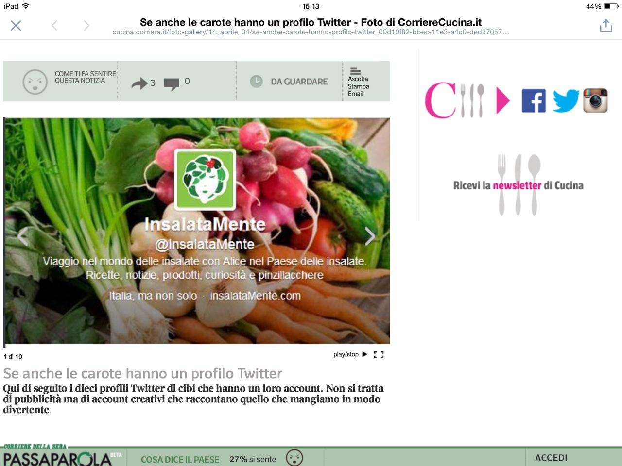 La foto mostra la galleria fotografica del giornale online con InsalataMente
