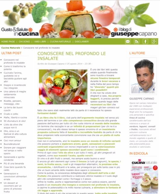 screenshot del blog di Giuseppe Capano