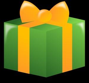 illustrazione di regalo impacchettato con carta verde