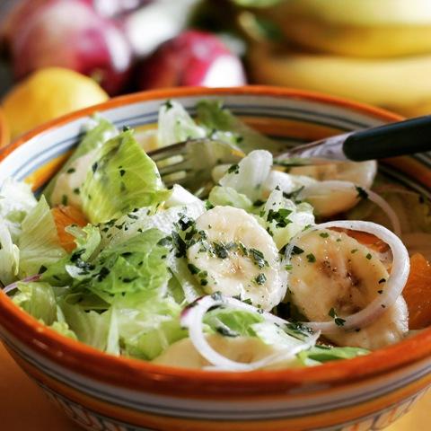 insalata con lattuga e banana
