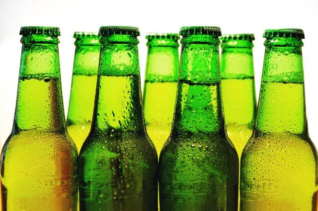 bottiglie di birra ben fredda