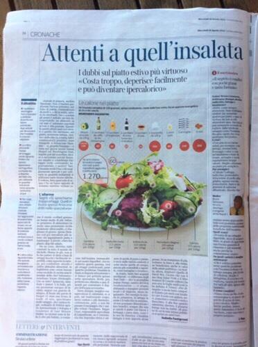 Pagina del Corriere della Sera