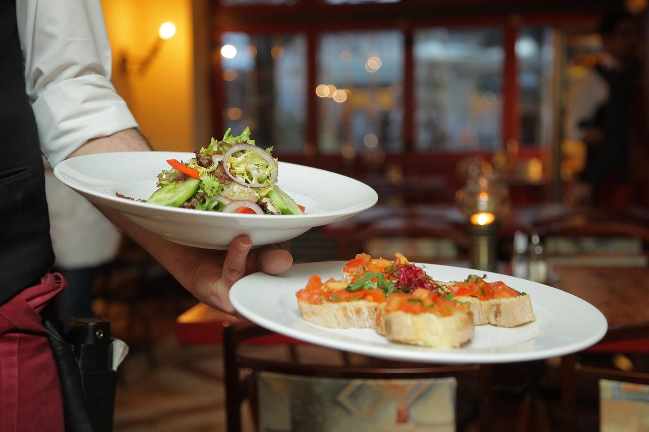 piatti serviti in ristorante