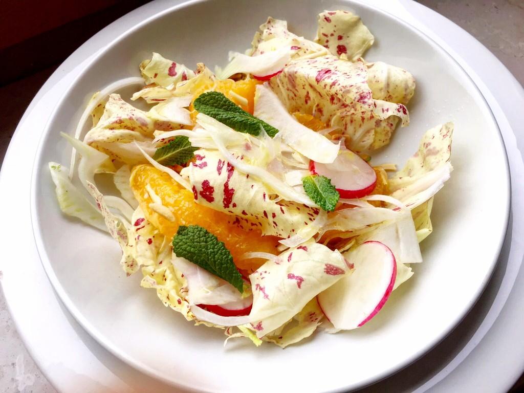 insalata di radicchio di treviso e arancia