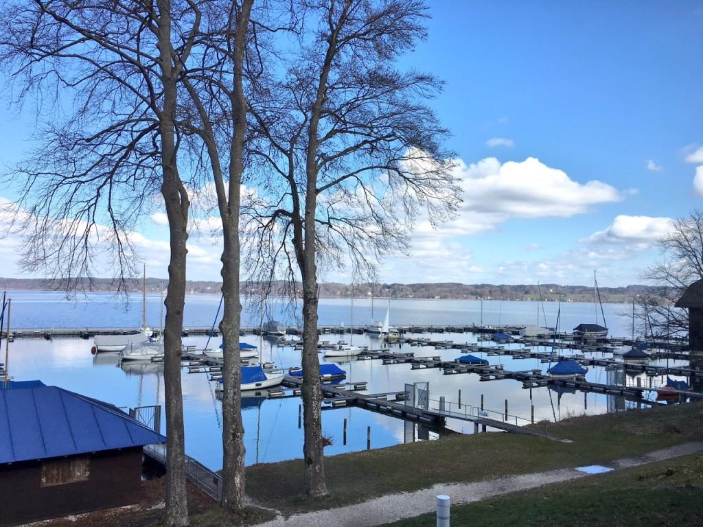 Vista dal ristorante marina a Bernried