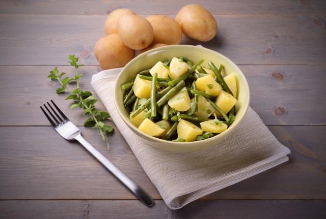 insalata di patae e fagiolini