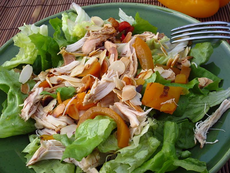 insalata di lattuga e pollo alla spagnola