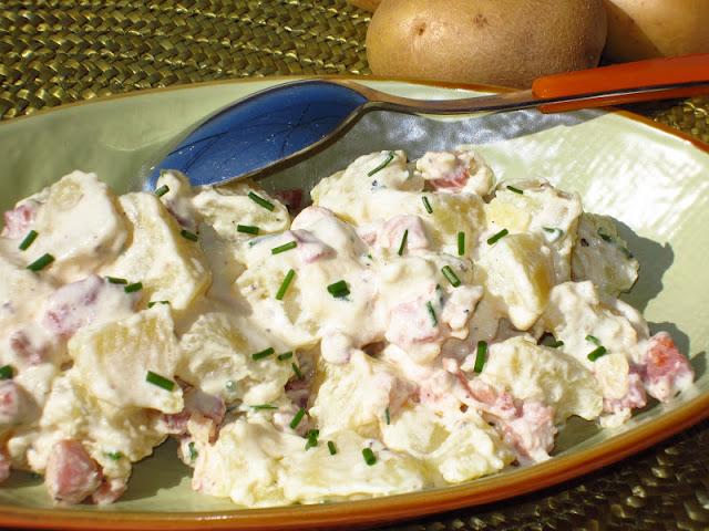 insalata di patate e pancetta