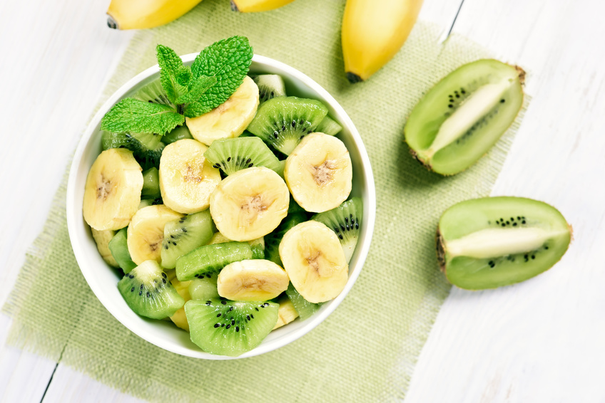 L'insalata del buonumore a base di banane e kiwi