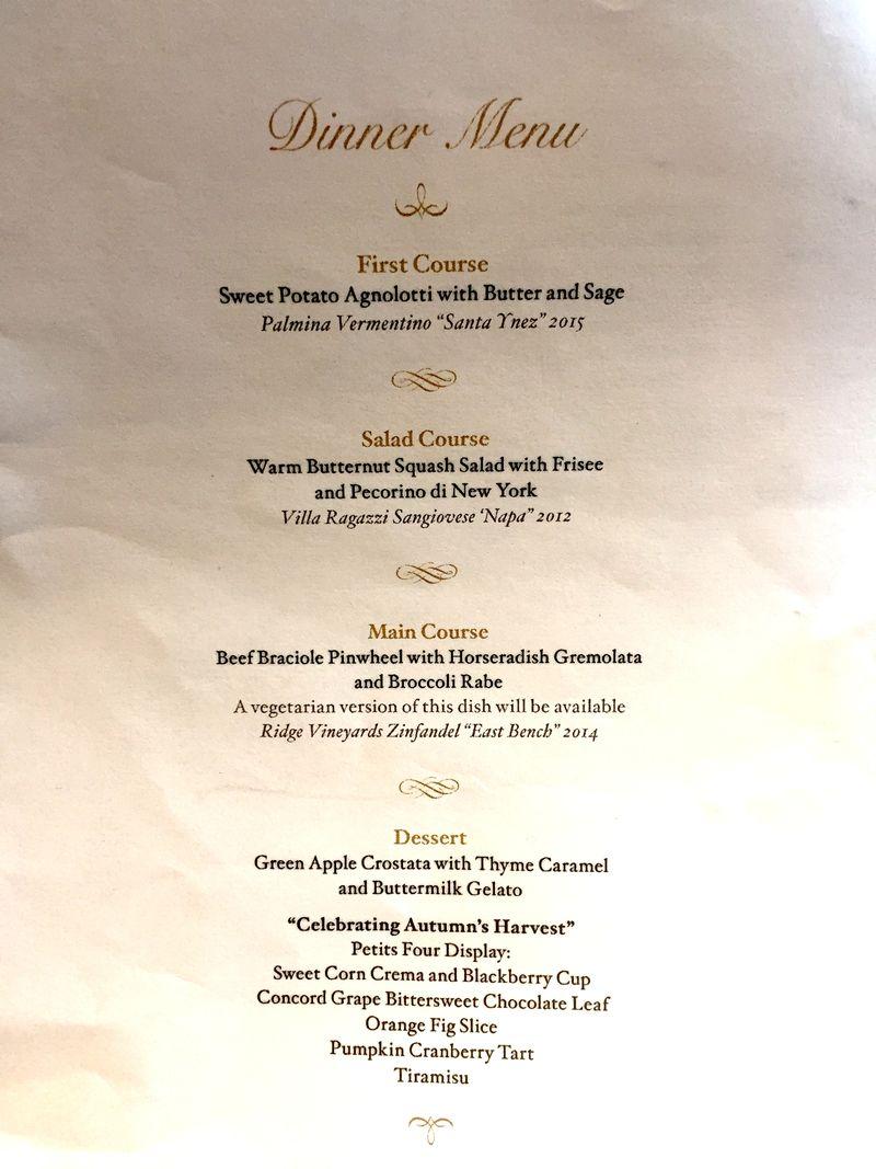 menu cena renzi alla casa bianca