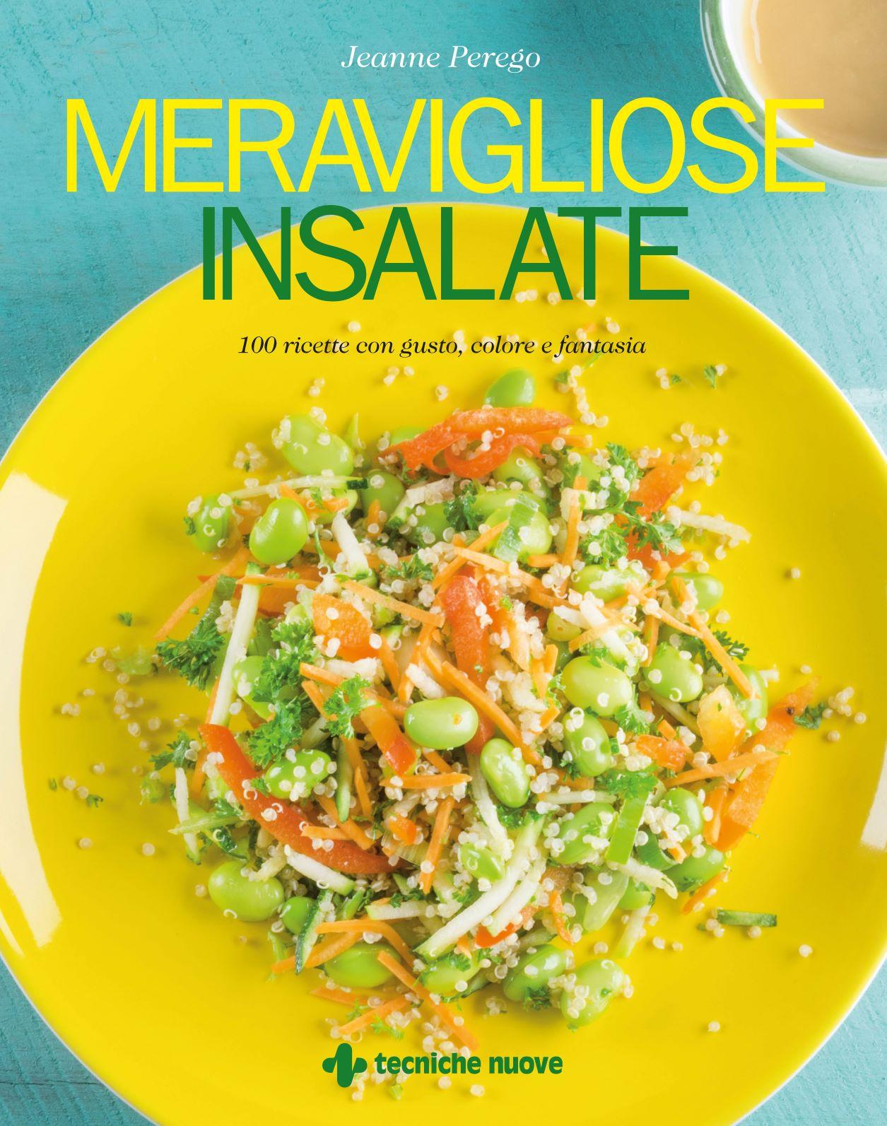 Copertina del libro meravigliose insalate di jeanne perego